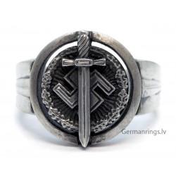 Silver German WW2 Veterans ring