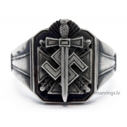 German Nazi WW2 silver ring