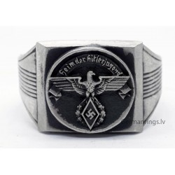 Germany WW2 - Hitler Youth - H.J leader ring.