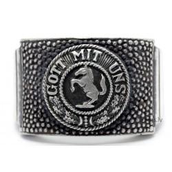 """WW2 German Silver Ring """"Gott mit uns"""""""
