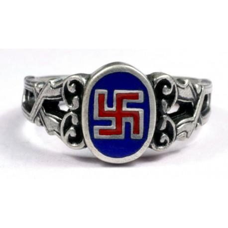 NSDAP silver ring