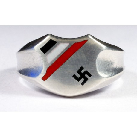 WW1-WW2 German Patriotic silver ring