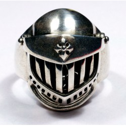 Sterling silver Gothic Men's Biker Ring