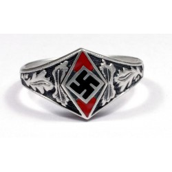 WW II German Hitler Jugend silver ring