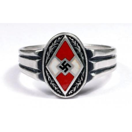 WWII Hitler Jugend sudraba gredzens