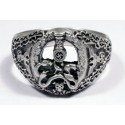 GERMAN ANTI PARTISAN BADGE SILVER RING