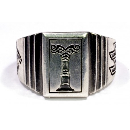 Ahnenerbe sterling silver ring