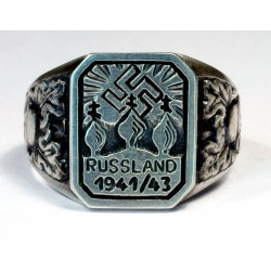 RUSSLAND 1941/43 - Nazi Volunteer silver ring