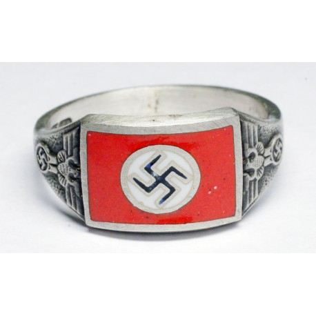 WWII German NSDAP sterling silver ring