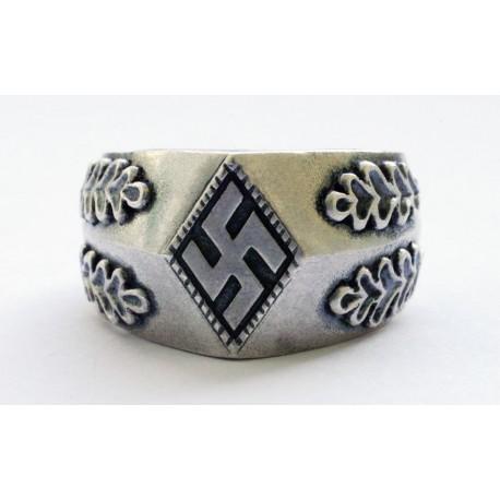 WWII vācu Hitler Jugend sudraba gredzens