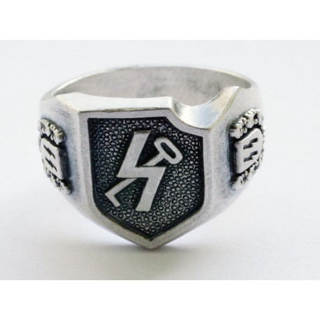 """12. SS Panzer Division """"Hitlerjugend"""" sudraba gredzens"""