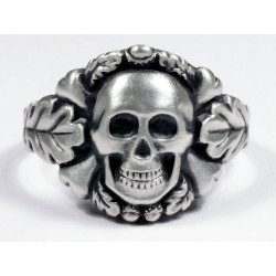 German skull ring in silver