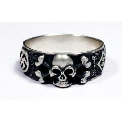 WWII German Skull Silver Ring