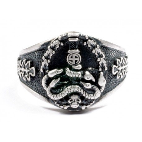 GERMAN ANTI PARTISAN Badge Silver RING.