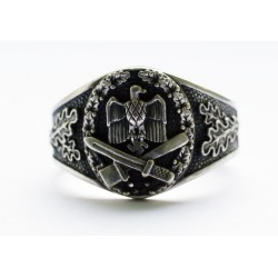 World War II German sterling silver ring