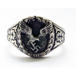 German WW II Luftwaffe combined Pilots and Observers ring