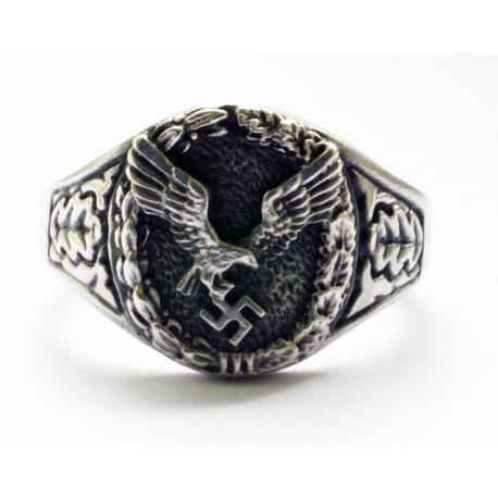 Vācu WWII Luftwaffe apvienotu pilotu un novērotāju gredzens