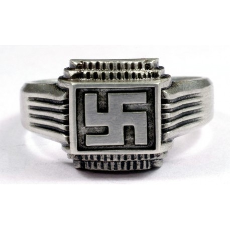 German WWII Ring with Swastika