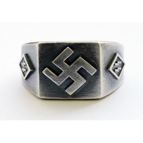 WWII vācu sudraba gredzens.