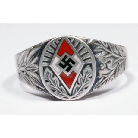 WWII German Hitler Jugend Silver Ring