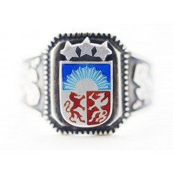 WWII German Silver Latvian Volunteer Ring