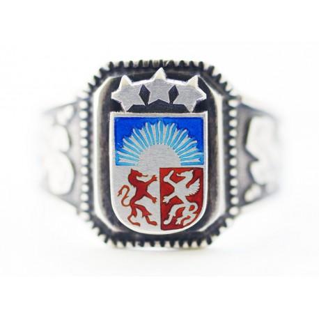 WWII vācu Sudraba Latvijas Brīvprātīgo gredzens