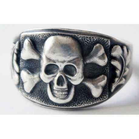 German Silver Skull and Crossbones Ring