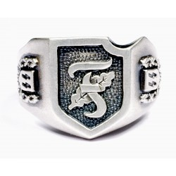 WW II Wafen Units silver ring