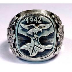 German Wermacht Krim campaign silver Luftwaffe ring