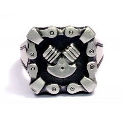 Silver sterling Men's Biker Ring
