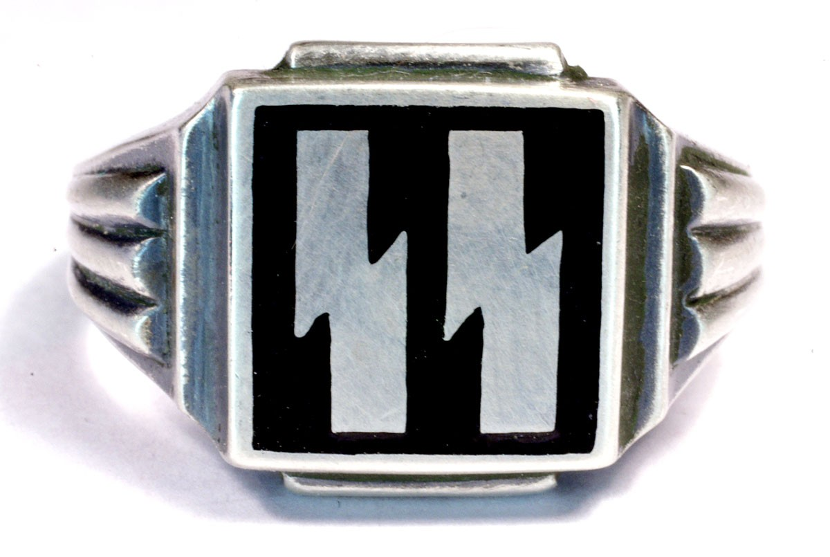 Wwii german waffen ss silver rings for sale biocorpaavc Image collections
