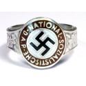 SILVER ENAMEL GERMAN NSDAP RING