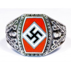 WWII GERMAN RING IN SILVER