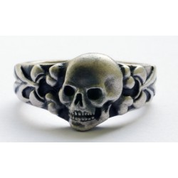 WW II Silver  Ring with Skull