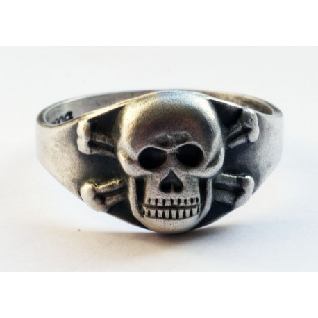 German Skull Sterling Silver Ring