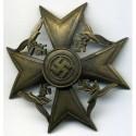 Spāņu krusts bez zobeniem bronzā.