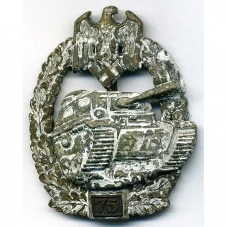 German Nazi 75 engagement Panzer Assault badge