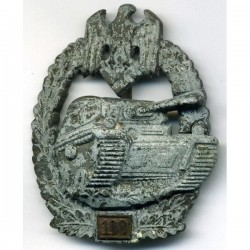 German Nazi 100 engagement Panzer Assault badge