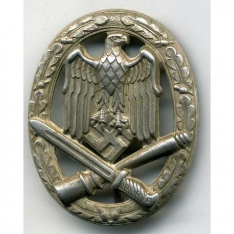 WW2 GERMAN GENERAL ASSAULT SILVER BADGE