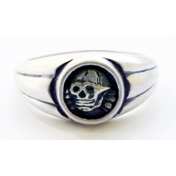 Silver WWII Ring with Skull