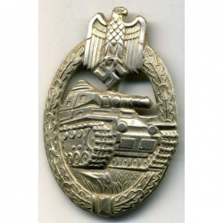 German Panzer Grenadier Assault Badge in Silver