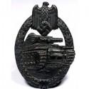 Vācu tankistu grenadieru uzbrukuma bronzas žetons.