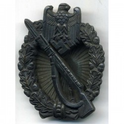 GERMAN INFANTRY ASSAULT BADGE IN BRONZE SCREW BACK