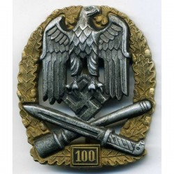 WW2 German General Assault badge 100