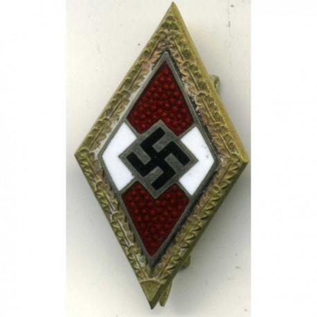WWII German Golden Hitler Youth Badge of Honour