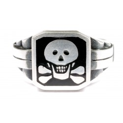 German Ring with Skull WWII