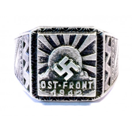 World War II - Ostfront Wehrmacht solders silver ring