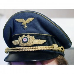 WWII GERMAN LUFTWAFFE GENERAL VISOR HAT