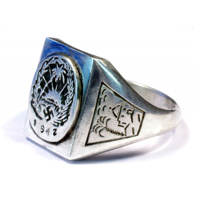 German WW2 1942 Africa corpus silver ring for sale
