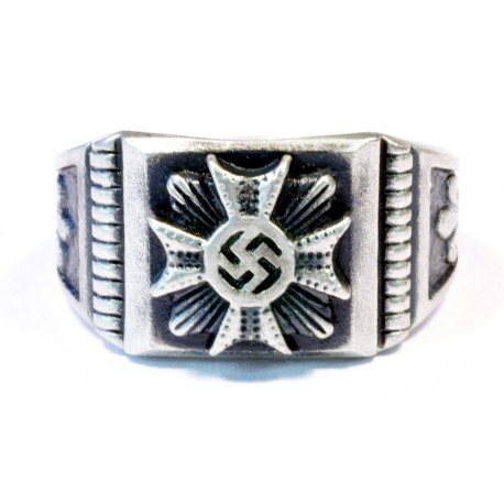 German WW2 Silver Iron Cross Ring